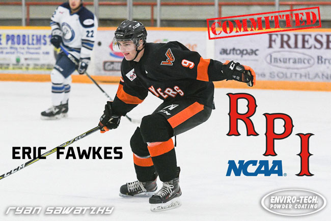Flyers' Fawkes Commits to RPI for 2020-2021 Season